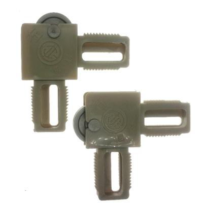 HM010 4入裝 紗門窗角掛輪 1200型802型 塑膠角含輪有溝