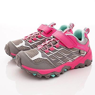 MERREL頂級童鞋 防水速乾耐磨鞋款 159195灰粉(中小童段)