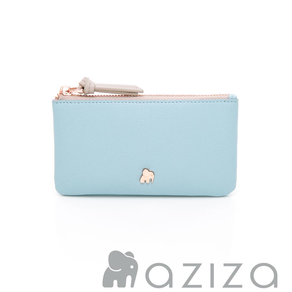 aziza 鑰匙零錢包-水藍