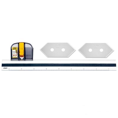 日本優良設計獎OLFA豪華型45度角雙向斜口刀直線切割器MC-45/DX(附2替刃;右左手皆適;品番197B)尺規切割刀