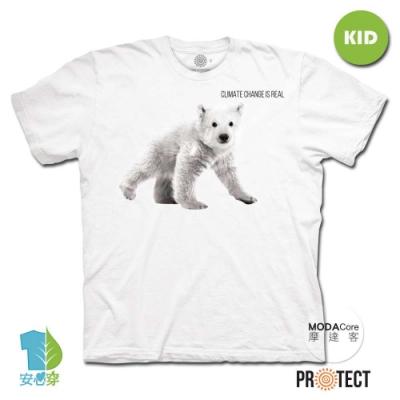 摩達客-美國The Mountain保育系列大小北極熊白色短袖T恤親子裝
