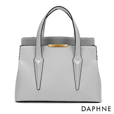 達芙妮DAPHNE-時尚都會風單肩手提兩用包-灰