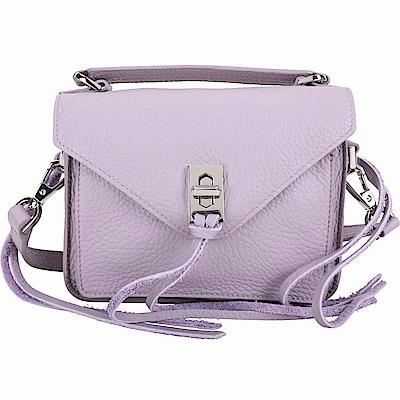 Rebecca Minkoff Darren 迷你款 銀釦流蘇粉紫色手提肩背包(展示品)