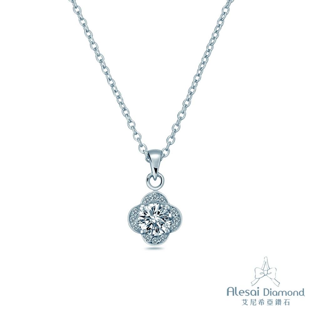 Alesai 艾尼希亞鑽石 30分 14K 幸運花朵鑽石項鍊