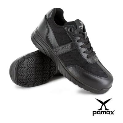 PAMAX 帕瑪斯【運動休閒風】頂級超彈力氣墊止滑安全鞋、寬楦鋼頭、真皮+透氣網布-PS13501FEH