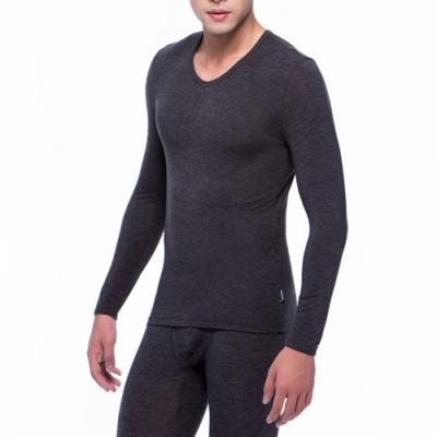 三槍牌 時尚經典Q-HEAT型男超彈性長袖發熱衣黑色1件組