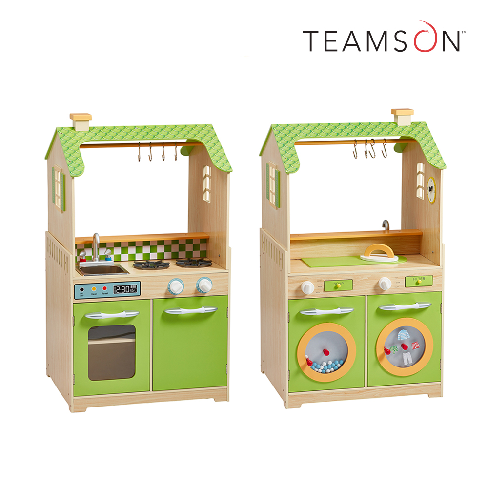 Teamson 小廚師芝加哥多功能玩具廚房