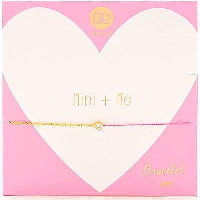 GORJANA Mini X Me 圓形單鑽 螢光粉紅防水繩X金手鍊 雙材質設計 可調式手圍