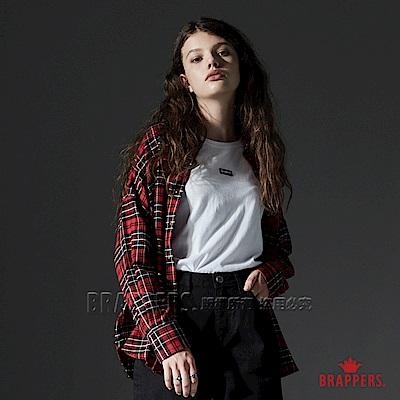 BRAPPERS 女款 配色格紋長袖襯衫-紅