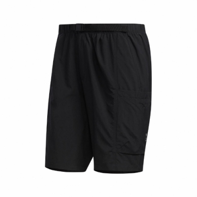 adidas 短褲 TEC WV Shorts 運動休閒 男款 愛迪達 膝上 口袋 穿搭 尼龍 基本款 黑 白 FM5401