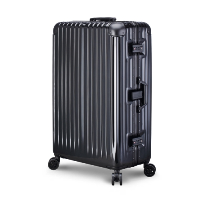 【ARTBOX】威尼斯漫遊 29吋 平面凹槽鏡面鋁框行李箱 (太空黑)