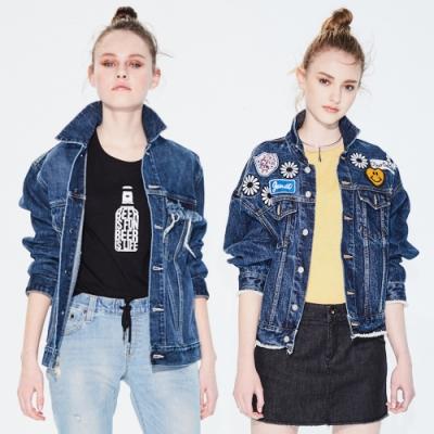 [時時樂限定]BRAPPERS 女款 經典不敗寬版牛仔外套(二款選)