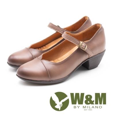 W&M 古典扣飾瑪麗珍跟鞋 娃娃鞋 女鞋 - 可可(另有黑)