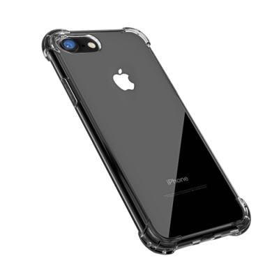 iPhone SE 2020 手機殼 透明黑 四角 防摔氣囊 手機殼 手機套 (iPhoneSE2020手機殼 iPhoneSE2020保護殼 )