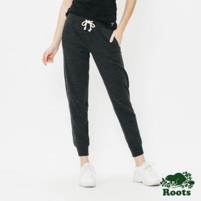 ROOTS女裝 - 毛圈布休閒棉褲-黑