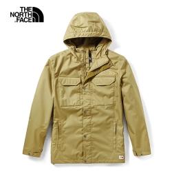 The North Face北面男款卡其色戶外防水透氣衝鋒衣|3VTND9V