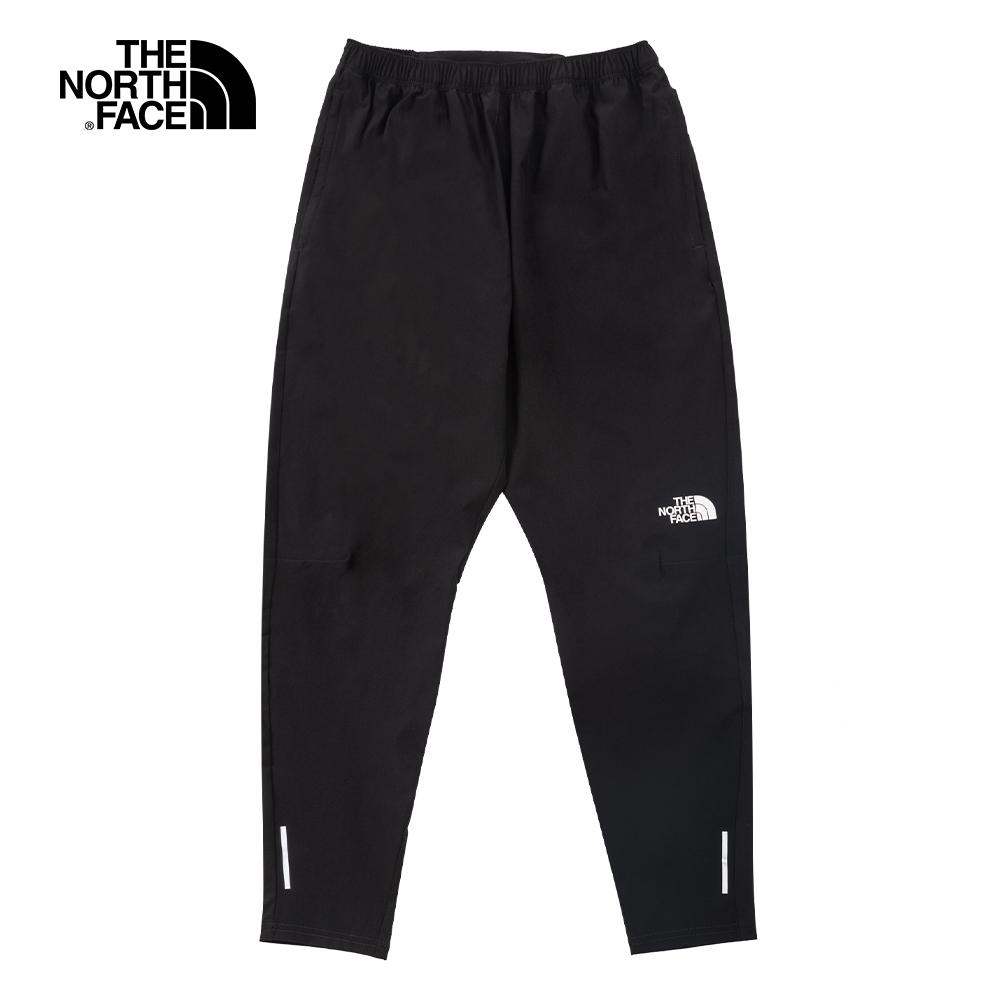 The North Face北面男款黑色吸濕排汗防潑水戶外徒步褲|537DJK3
