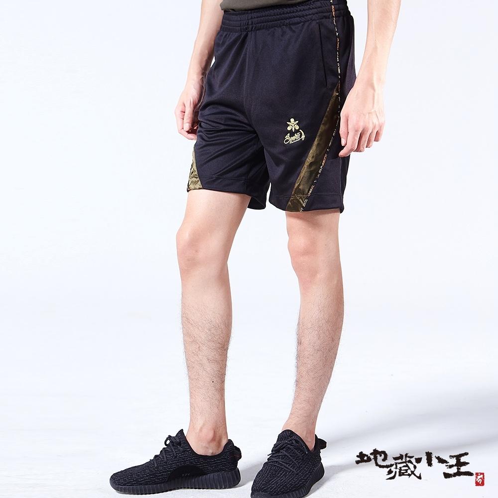 地藏小王 BLUE WAY – 龍紋牡丹家徽透濕透氣防潑水短褲