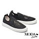 休閒鞋 MODA Luxury 華麗率性晶鑽飛織布厚底休閒鞋-黑 product thumbnail 1