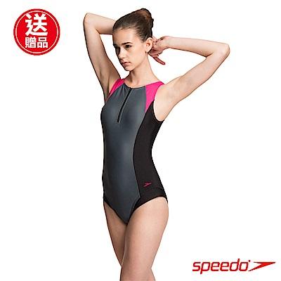 SPEEDO 女人運動連身泳裝 Hydrasuit 黑/灰/粉紅