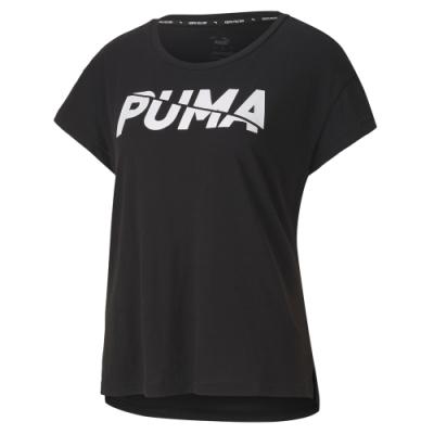 PUMA-女性基本系列Modern Sports短袖T恤-黑色-亞規