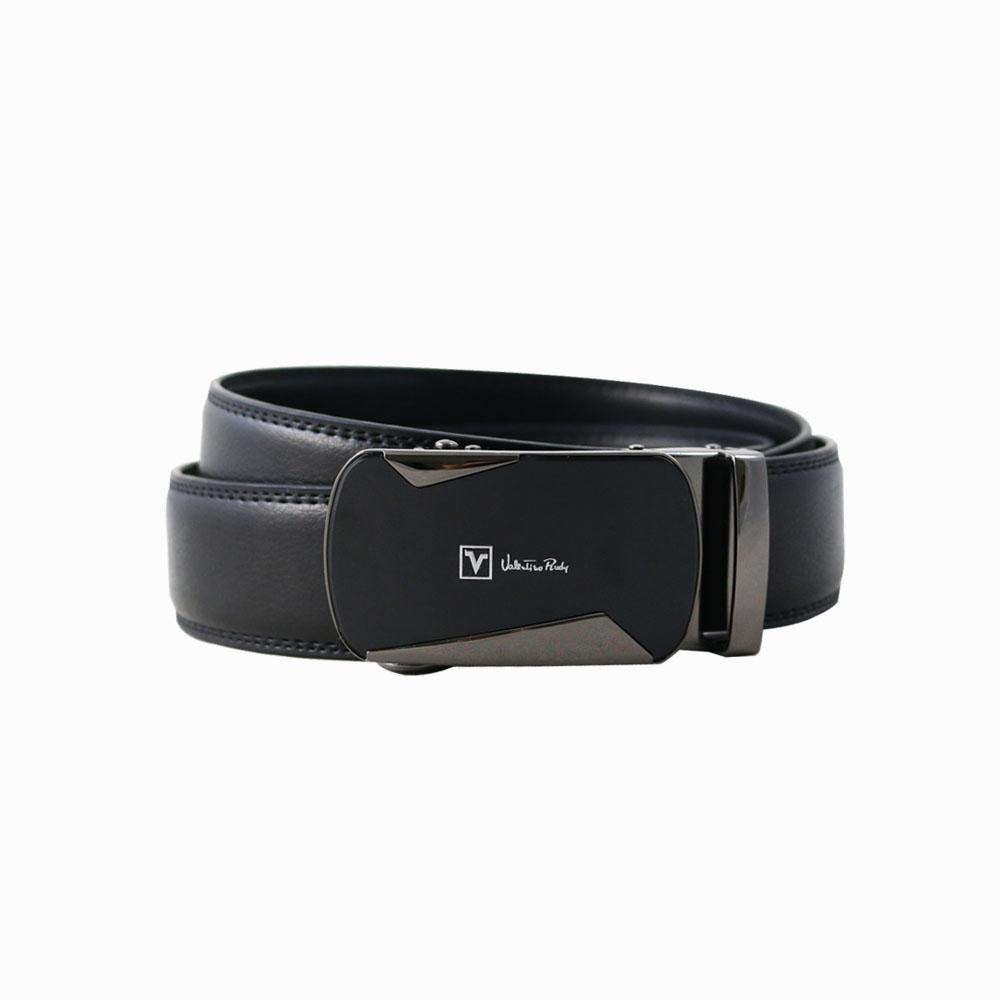 Valentino Rudy黑面時尚紳士自動扣牛皮皮帶-ZV6916