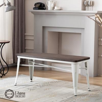 E-home Mag麥格工業風金屬木面長板凳-三色可選