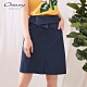 OUWEY歐薇 百搭裙頭造型修身A字短裙(藍) product thumbnail 1