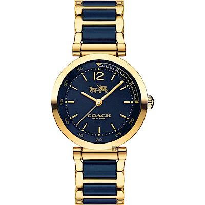 COACH Ladies 馬車藍陶時尚手錶(14502462)
