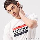 GIORDANO 男裝UNION JACK系列短袖T恤-19 標誌白