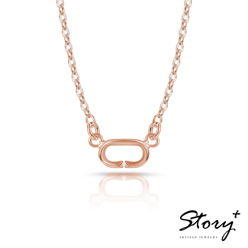 STORY故事銀飾-Charm扣扣系列-基礎項鍊(玫瑰金) @ Y!購物