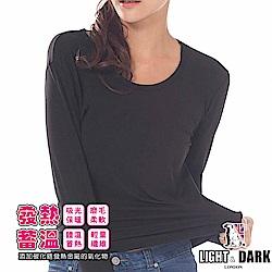 LIGHT & DARK 發熱蓄暖女圓領保暖衣(回饋3件組)