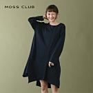 【MOSS CLUB】不對襯剪裁設計-洋裝(二色)