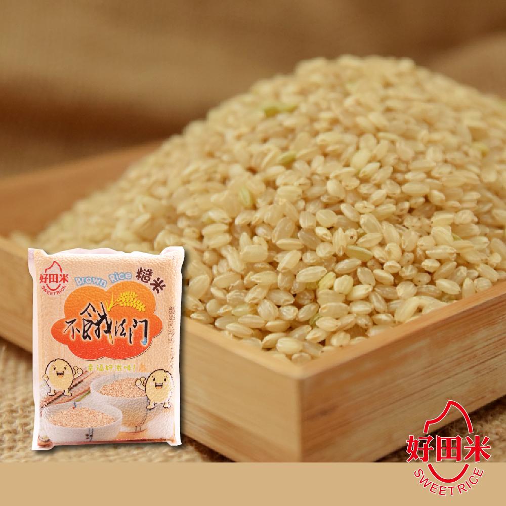 好田米‧不餓法門-糙米(2kg/包,共兩包)