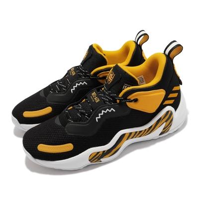 adidas 籃球鞋 D O N  ISSUE 3 運動 男鞋 愛迪達 避震 透氣 包覆 Bel Air 黑 黃 GV7275
