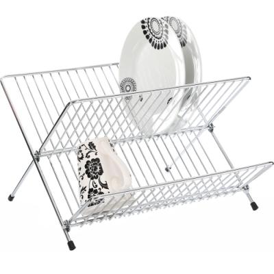 《Premier》摺疊碗盤瀝水架(銀33cm)