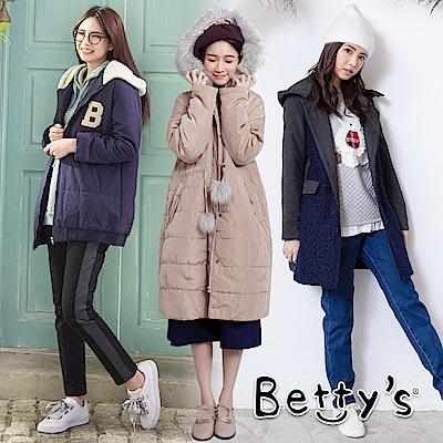 [時時樂限定]  betty's 保暖鋪棉防風大衣