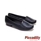 Piccadilly 方頭素面平底鞋 莫克辛 樂福鞋 包鞋 黑