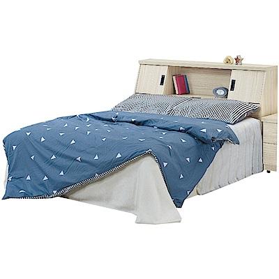 綠活居 芙雅6尺木紋雙人加大床台組合(床頭箱+底+不含床墊)-182x218x97cm免組