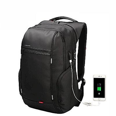 leaper KINGSONS USB充電防水防盜15.6吋筆電雙肩後背包 共2色