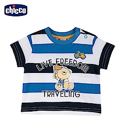 chicco-車車旅遊趣-寬條短袖上衣