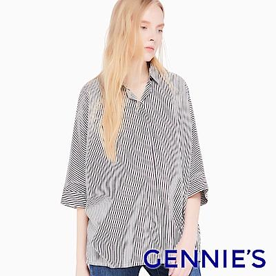 Gennies專櫃-落肩飛鼠袖休閒襯衫上衣(4色可選)C3E03