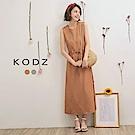 東京著衣-KODZ 夏日女神修身綁帶長洋裝-S.M(共二色)