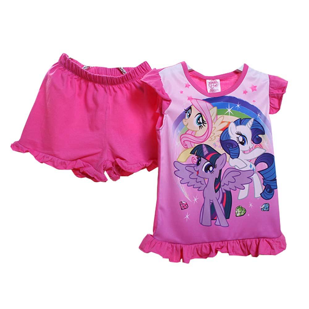 彩虹小馬短袖套裝 桃 k50375 魔法Baby