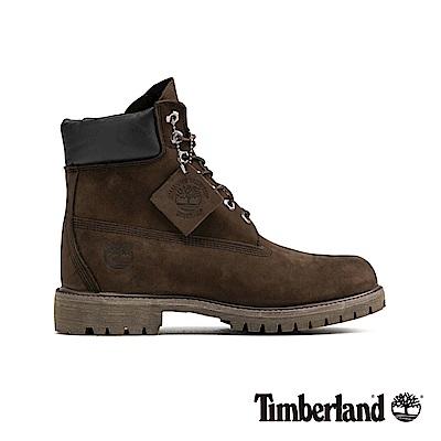 Timberland 男款深褐色素面防水高筒靴 | 10001214