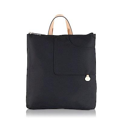 RADLEY POCKET ESSENTIALS素面尼龍後背口袋包(黑)