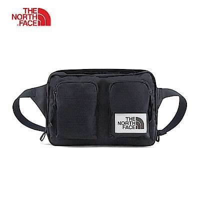 The North Face北面男女款黑色防潑水休閒腰包 3G8MKS7