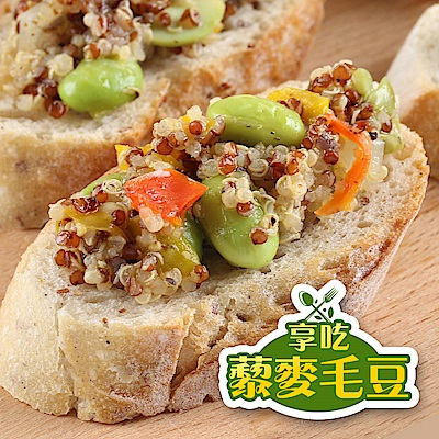 【愛上新鮮】享吃養生黎麥毛豆12包組(200g/包)