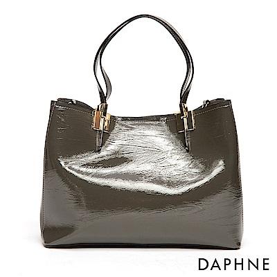 達芙妮DAPHNE-金屬飾片手提托特大方包-綠
