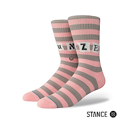 STANCE SUN DAZE-男襪-字母條紋拼接設計款